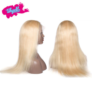 TOHYADD PrePlucked Blonde #1B Straight Human Hair Transparent HD Lace Wig