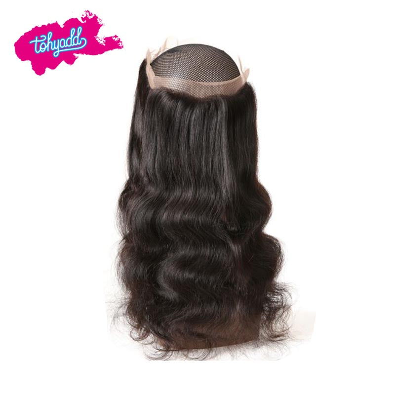 TOHYADD PrePlucked Transparent HD Lace Closure Frontal Body Wave Raw Hair