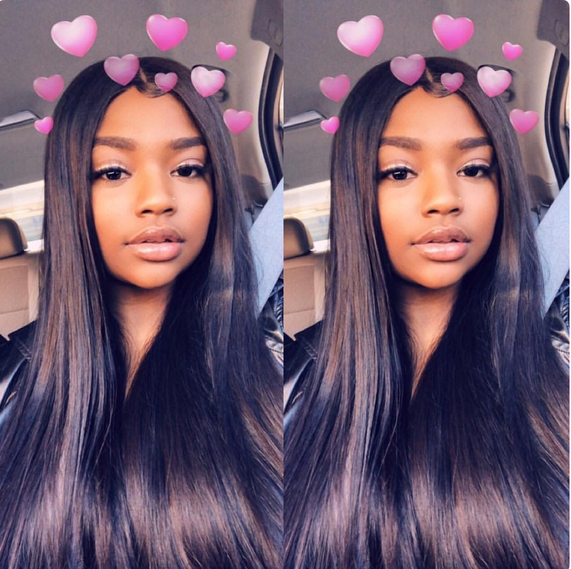 TOHYADD 1/2/3/4 Bundle Deals 40 Inch Remy Straight Hair Double Drawn Weaves