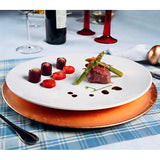 Gourmet Professional Porcelain Coupe Dinner Plate- Set of 6 - Amuse Home