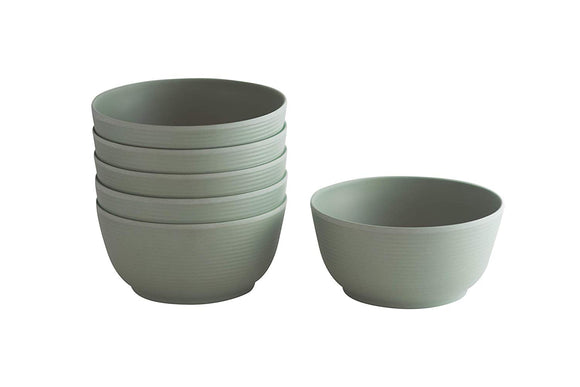 Natura Green- Whirl Bamboo Bowls- Set of 6-24 oz. (700ml) - Amuse Home