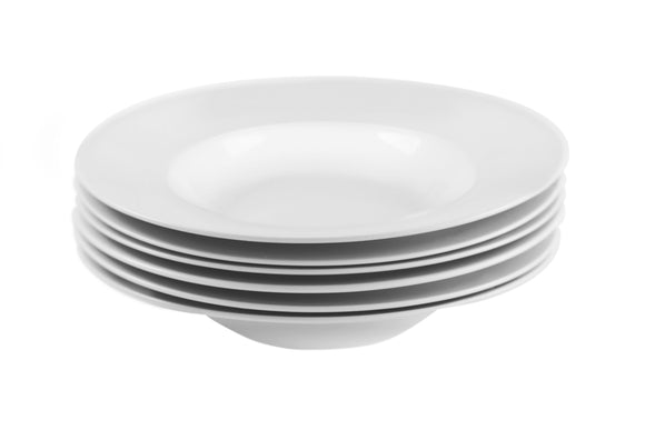 Gourmet Professional Porcelain Pasta Plate- Set of 6 - Amuse Home