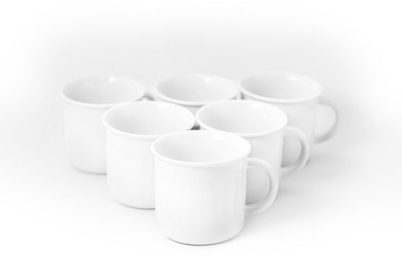 Bistro Collection Camping Mug- Set of 6-13 oz - Amuse Home