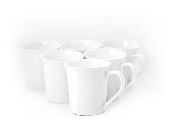 Bistro Collection  Tall Mugs- Set of 6-13 oz - Amuse Home