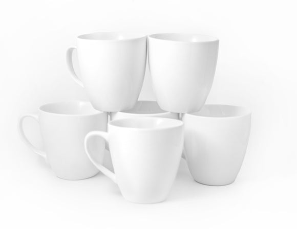 Bistro Collection Lungo Mugs- Set of 6-17 oz - Amuse Home