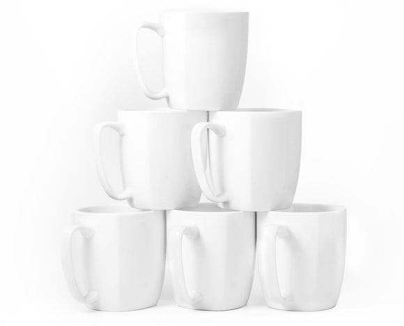 Bistro Collection Daily Mugs- Set of 6-14 oz - Amuse Home