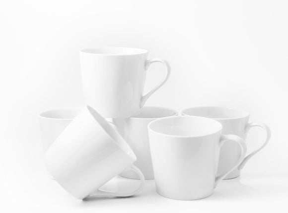 Bistro Collection Latte Mugs- Set of 6-14 oz - Amuse Home