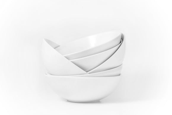 Bistro Bone China Classic Bowls- Set of 6-25 oz - Amuse Home