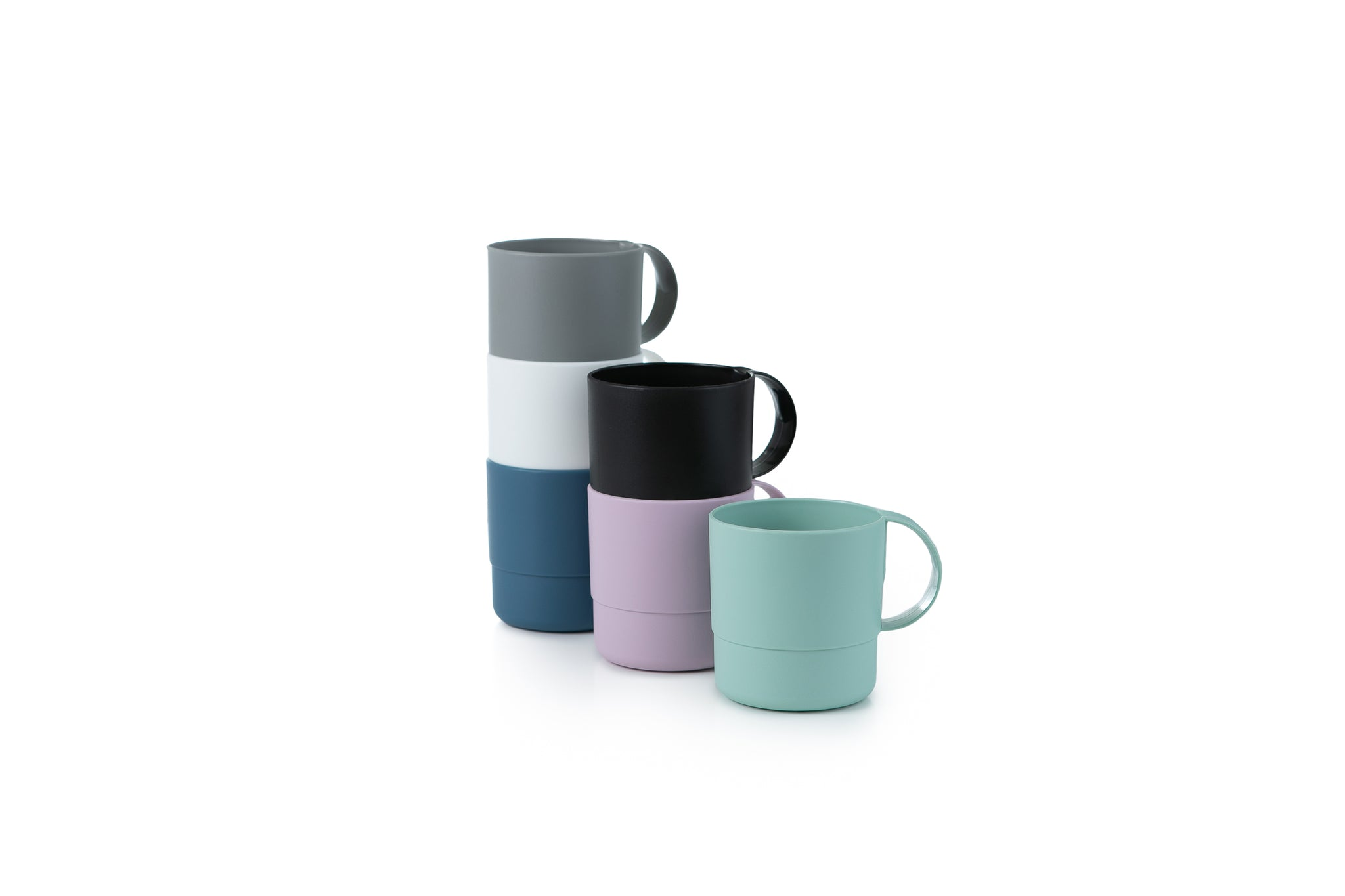 Microwavable Stackable Unbreakable and Reusable Plastic Mugs
