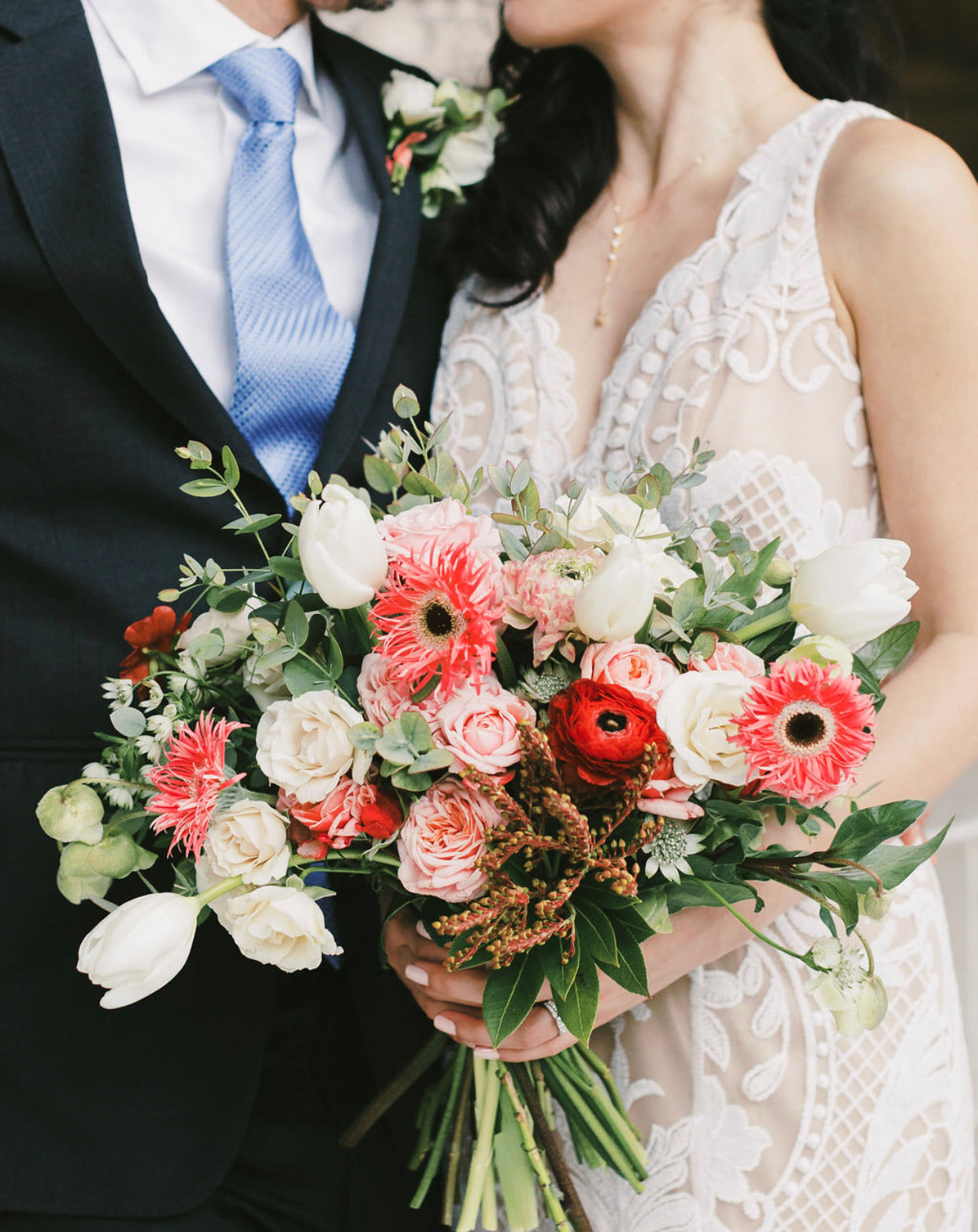 City Hall Wedding: Medium Garden Bouquet