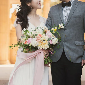 City Hall Wedding: Large Garden Bouquet