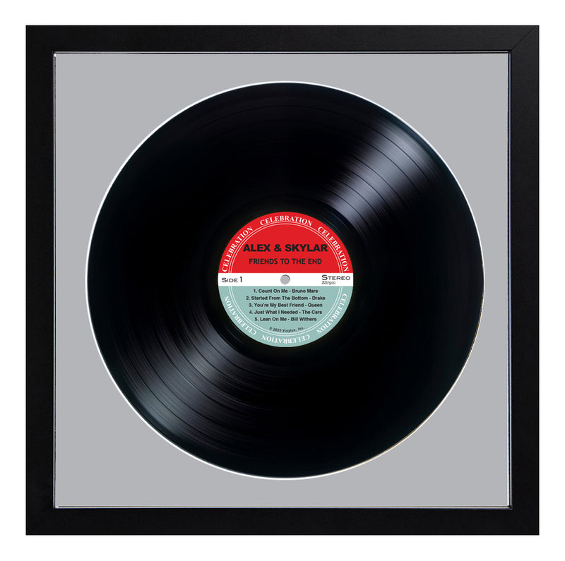 Personalized Framed Black LP Record