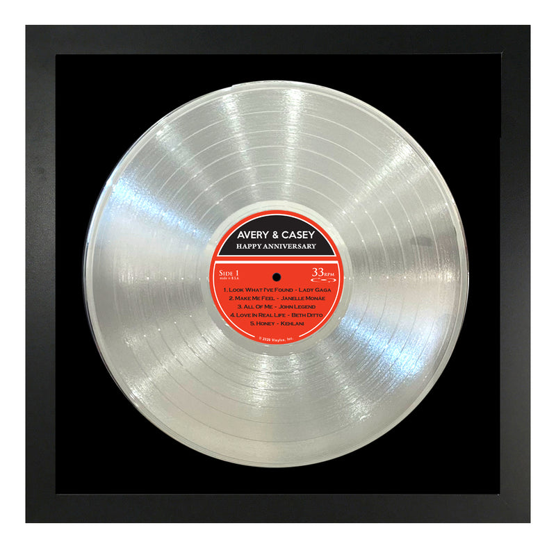 Personalized Framed Platinum LP Record
