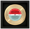 PERSONALIZED Framed Gold 45RPM Record