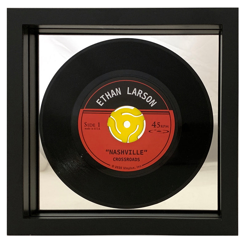 PERSONALIZED Framed Black 45RPM Record