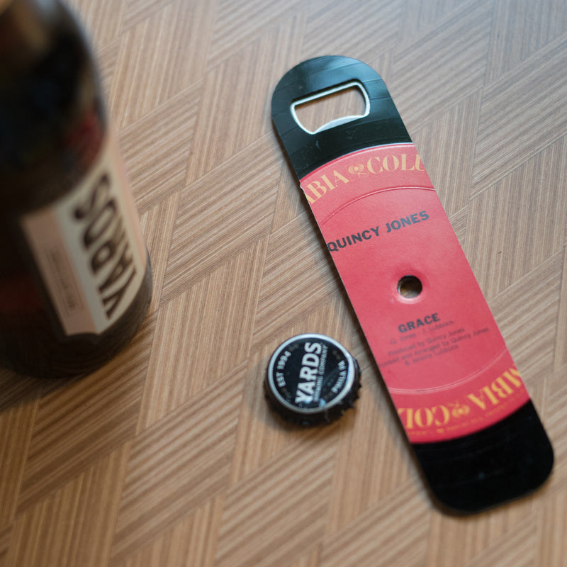 Vintage Recycled Record Bottle Opener