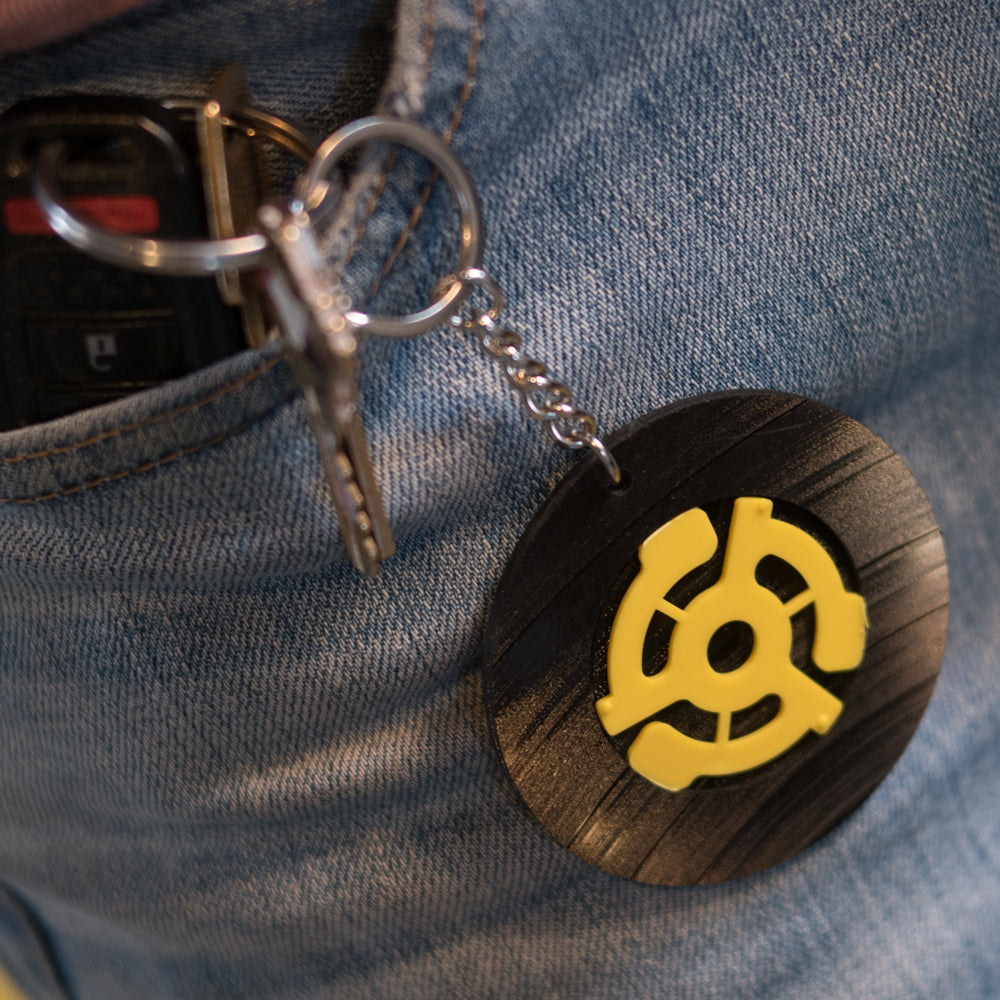 Vintage Recycled Record Key Chains