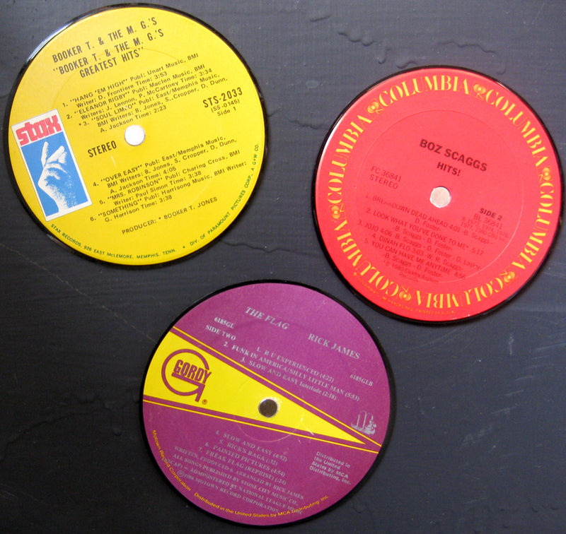 Vintage Recycled Record Label Magnets - Wholesale Case Pack of 6 Sets