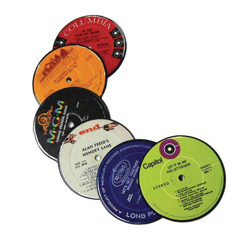 Vintage Recycled Record Label Coasters
