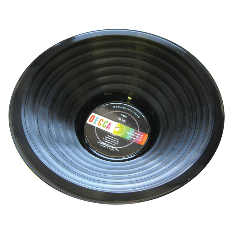 Vintage Vinyl Recycled Stepped Record Bowl - Wholesale Case Pack of 3