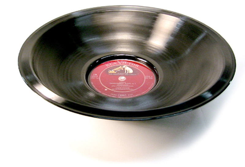 Vintage Vinyl Recycled Smooth Record Bowl - Wholesale Case Pack of 3