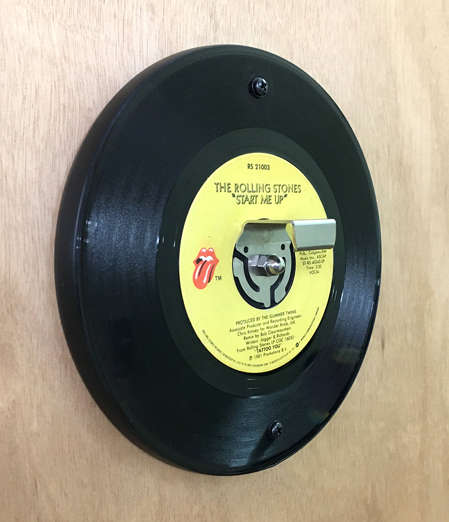 Vintage Recycled 45RPM Wall-Mounted Bottle Opener