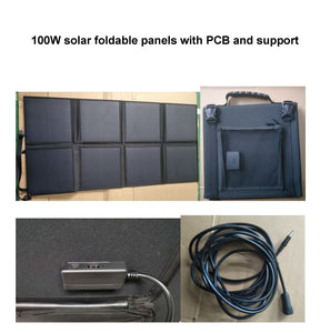 12V 50AH Portable Energy Storage System with foldable 100W Solar Panel charger Military quality Lithium Battery Power