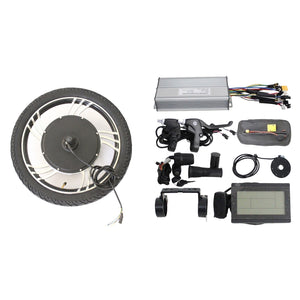 "36V 750W 48V 1000W Ebike 14"" 16"" 18"" 20"" Integral Front Wheel Conversion Kits"