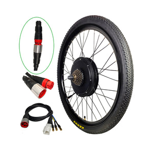 "EU Free Shipping EU Duty Free 36V 1200W 48V 1500W Ebike Bicycle Rear Wheel Conversion Kits 26"" 27.5'' 29er"