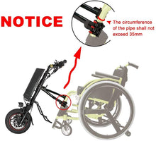 Load image into Gallery viewer, 16inch 36V 250W 500W DIY Electric Handcycle Wheelchair Attachment Handbike Conversion Kit with 8.8AH or 10.4AH or 11.6AH battery