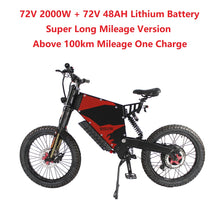 Load image into Gallery viewer, EU/USA Duty Free Hallomotor 72V 2000W 45A FC-1 Stealth Bomber eBike Electric Bicycle With Bicycle or Motorcycle Seat