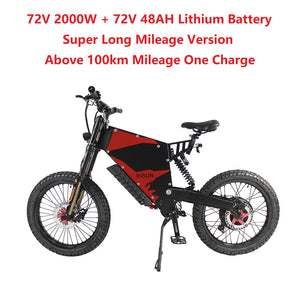 EU/USA Duty Free Hallomotor 72V 2000W 45A FC-1 Stealth Bomber eBike Electric Bicycle With Bicycle or Motorcycle Seat