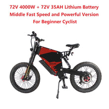 Load image into Gallery viewer, EU/USA Duty Free Hallomotor 72V 4000W 80A FC-1 Stealth Bomber eBike Electric Bicycle With Bicycle or Motorcycle Seat