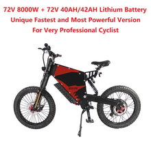 Load image into Gallery viewer, EU/USA Duty Free Hallomotor Unique 72V 8000W 150A FC-1 Stealth Bomber eBike Electric Bicycle With Bicycle or Motorcycle Seat