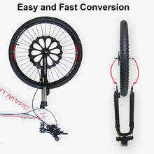 "Load image into Gallery viewer, 36V 250W eBike 16"" 20"" 24"" 26"" 27.5"" 29"" Front Wheel Conversion Kits with Integral Lithium Battery"