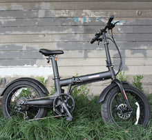 "Load image into Gallery viewer, 36V 350W Folding 20x4.0"" Fat Wheel eBike with Seatpost Built-in Battery"