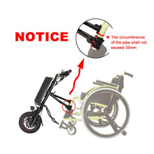 Load image into Gallery viewer, Hallomotor 36V 250W e-Wheelchair Tractor Attachment Handcycle Handbike Kit+36V 9AH Battery with 2A Charger