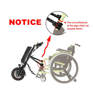 Hallomotor 36V 250W e-Wheelchair Tractor Attachment Handcycle Handbike Kit+36V 9AH Battery with 2A Charger