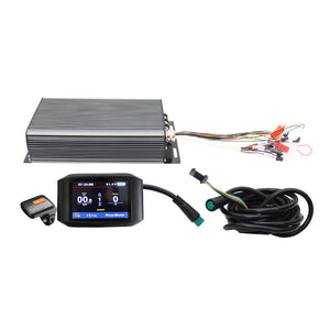 48V 60V 72V 3300W-5000W 100A Ebike Programmable Intelligent Control System: 100A Controller+Display+Brake+Throttle+PAS+Alarm+Bluetooth