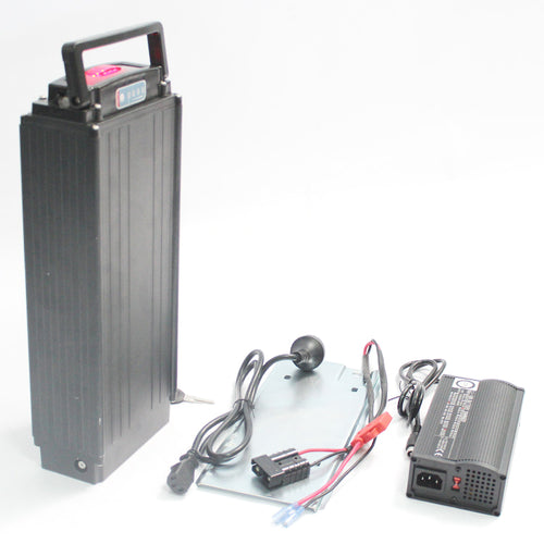 48V 14.5AH 17.4AH 20.3AH 23.2AH 26.1AH Panasonic Rear Carrier Flat Case Lithium Battery