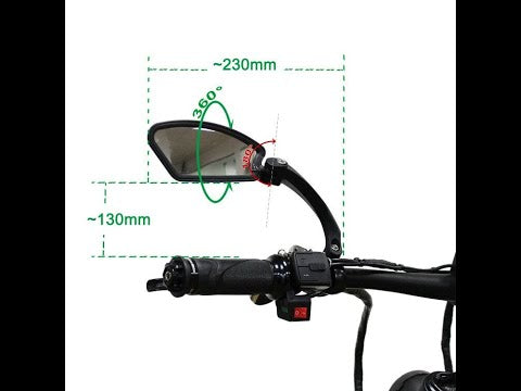 Free Shipping Rearview Mirror for Stealth Bomber FC-1 all ebikes