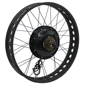 "36V 750W 48V 1000W 48V 1500W Powerful 24x4.0"" Fat Wheel Ebike Brushless Gearless Motor Wheel Only"