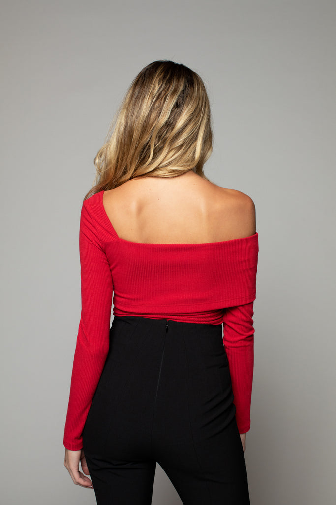 Penelope Long Sleeve - Cherry Red