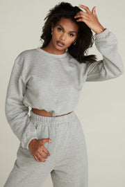GINA SWEATSHIRT - HEATHER GREY
