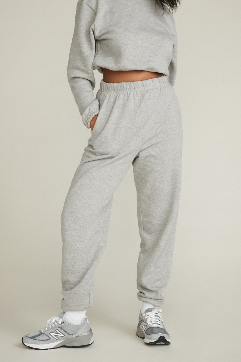 GINA SWEATPANTS - HEATHER GREY