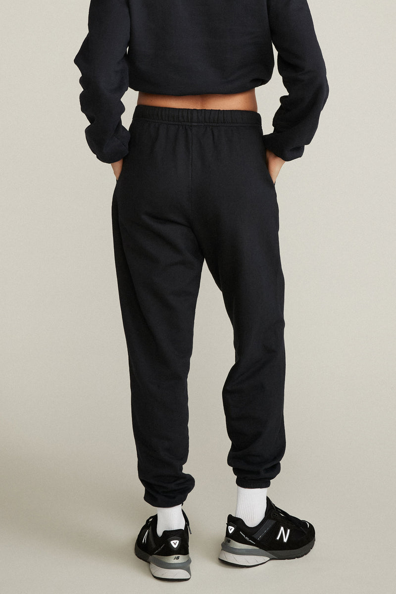 GINA SWEATPANTS - VINTAGE BLACK