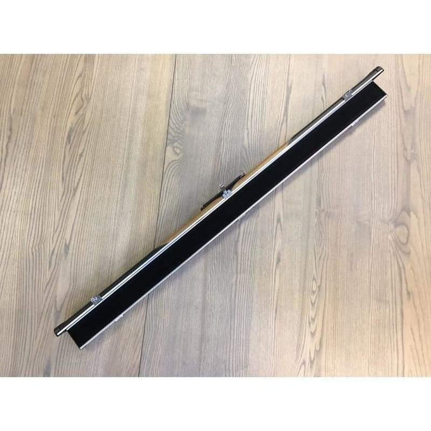 3/4 Black and Tan Leatherette and Aluminium Cue Case