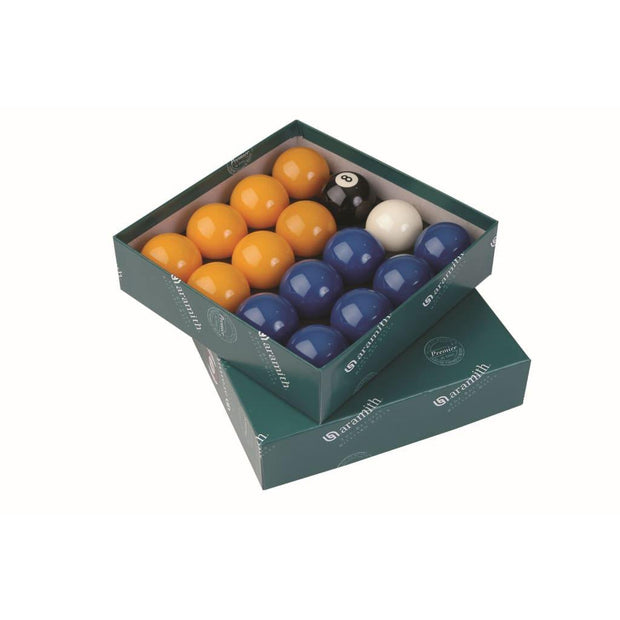 Aramith Premier League Pool Balls (Blue & Yellow)