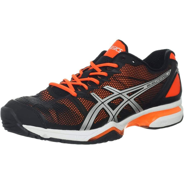 Asics Gel-Solution Speed Black - Neon Orange - Silver - 10.5