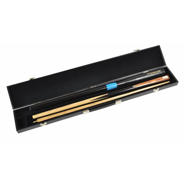 Attache Case to hold a Two Piece Cue and Extension